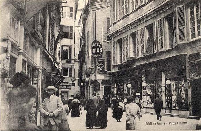 Cartolina d'epoca della vecchia Genova