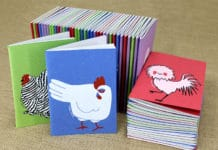 Linea cartotecnica Chickens Collection di Arbos e Tutto Sulle Galline | Tuttosullegalline.it