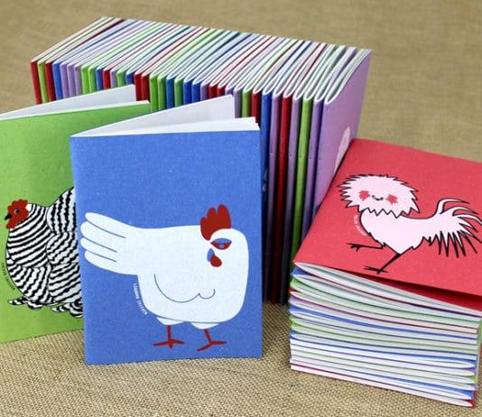 Linea cartotecnica Chickens Collection di Arbos e Tutto Sulle Galline | Tuttosullegalline.it