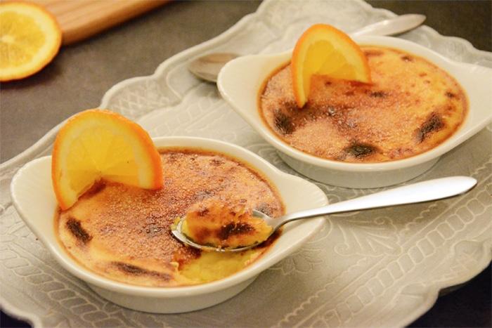 Crème brûlée arancia e cannella