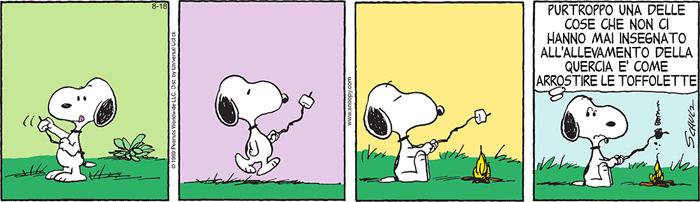 Striscia Peanuts: Snoopy e le toffolette arrostite