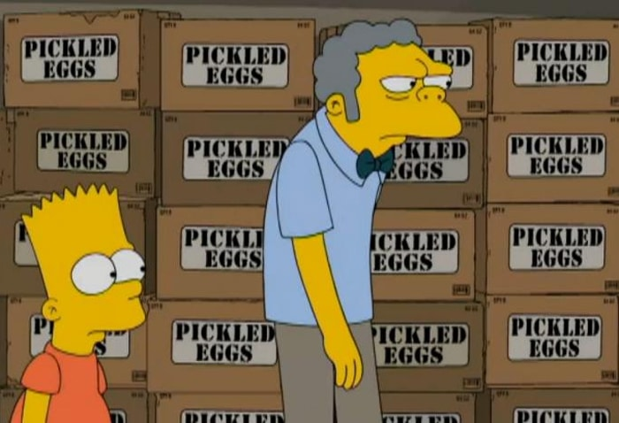 Boe, Burt e le confezioni di Pickled Eggs (The Simpson)