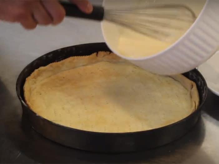 La farcitura con la crème fraîche