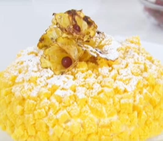 Torta Mimosa (con ananas) dello chef Luca Montersino | Tuttosullegalline.it