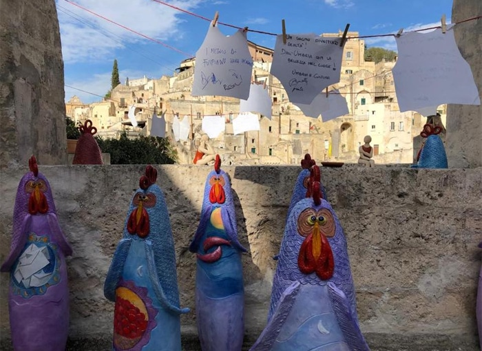 Le galline di Francesca Pastore a Matera