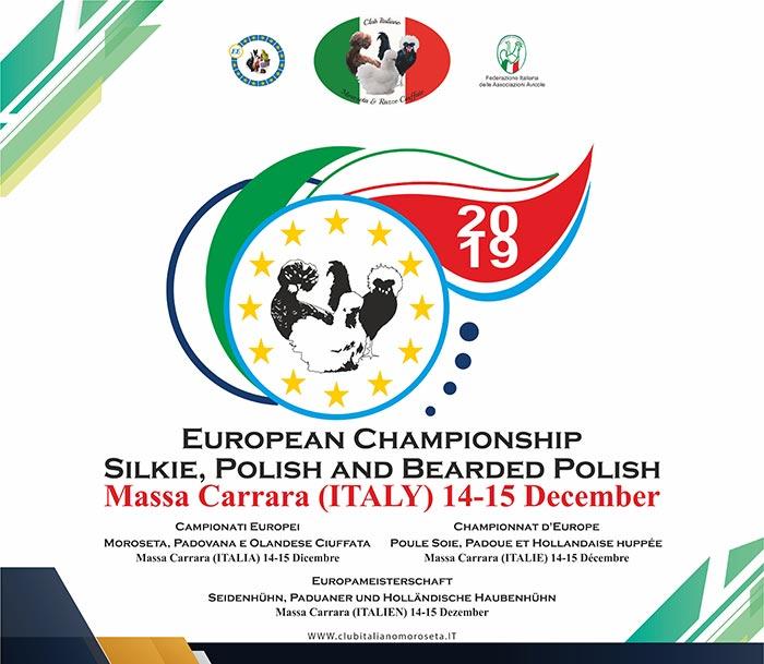 Campionato Europeo della Moroseta, Padovana e Olandese ciuffata, Carrara, 2019